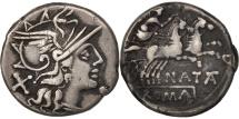 Pinarius Natta, Pinaria, Denarius, Rome, EF(40-45), Silver, Crawford:208/1