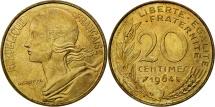 France, Marianne, 20 Centimes, 1964, Paris, MS(63), Aluminum-Bronze, KM:930