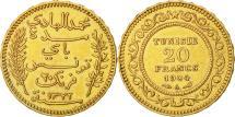 World Coins - Coin, Tunisia, Muhammad al-Hadi Bey, 20 Francs, 1904, Paris, MS(60-62), Gold