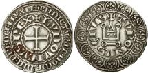 World Coins - France, Louis IX, Gros Tournois, EF(40-45), Silver, Duplessy:190A