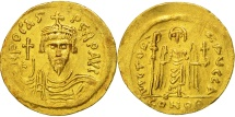 Phocas, Solidus, Constantinople, AU(50-53), Gold, Sear:618
