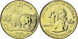 Us Coins - Coin, United States, North Dakota, Quarter, 2006, U.S. Mint, , Gold