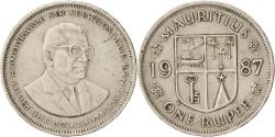 World Coins - Mauritius, Rupee, 1987, , Copper-nickel, KM:55