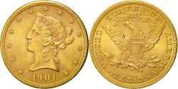Us Coins - Coin, United States, Coronet Head, $10,1901, Philadelphia, ,Gold,KM 102