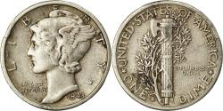 Us Coins - Coin, United States, Mercury Dime, Dime, 1943, U.S. Mint, Denver,