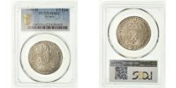 World Coins - Coin, France, Louis XIV, 1/2 Écu à la mèche longue, 1650, La Rochelle PCGS MS62