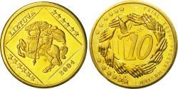 World Coins - Lithuania, Medal, Essai 10 cents, 2004, , Brass