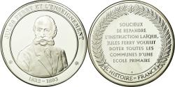 World Coins - France, Medal, Jules Ferry et l'Enseignement, History, , Silver