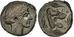 Ancient Coins - Coin, Sicily, Leontini, Tetradrachm, , Silver, SNG ANS:223, HGC:2-667