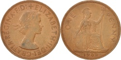 World Coins - Great Britain, Elizabeth II, Penny, 1962, , Bronze, KM:897