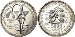 World Coins - Coin, West African States, 5000 Francs, 1982, ESSAI, , Silver, KM:E13