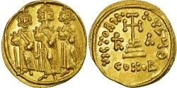 Coin, Heraclius, Solidus, 637-638, Constantinople, , Gold, Sear:764