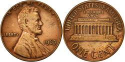 Us Coins - United States, Lincoln Cent, Cent, 1963, U.S. Mint, Philadelphia,