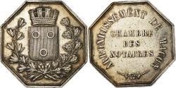World Coins - France, Token, Notaires de l'Arrondissement de Macon, , Silver