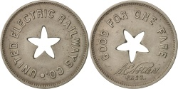 Us Coins - United States, Token, United Electric Railway Company