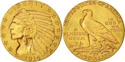 Us Coins - Coin, United States, Indian Head, $5, Half Eagle, 1914, Denver, AU(50-55)