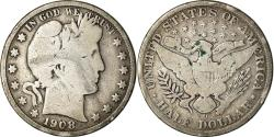 Us Coins - Coin, United States, Barber Half Dollar, Half Dollar, 1908, U.S. Mint, New