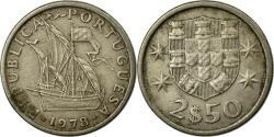 World Coins - Coin, Portugal, 2-1/2 Escudos, 1978, , Copper-nickel, KM:590