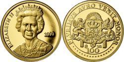World Coins - United Kingdom , Medal, Queen Elizabeth II, Politics, Society, War, 2000
