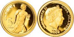 World Coins - Coin, Cook Islands, Elizabeth II, Orpheus, 5 Dollars, 2009, Valcambi,