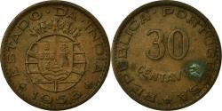 World Coins - Coin, INDIA-PORTUGUESE, 30 Centavos, 1958, , Bronze, KM:31