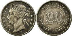 World Coins - Coin, Mauritius, 20 Cents, 1882, , Silver, KM:11.1