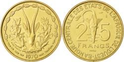 World Coins - WEST AFRICAN STATES, 25 Francs, 1970, KM #E5, , Aluminum-Bronze, 8.05