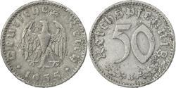 World Coins - Coin, GERMANY, THIRD REICH, 50 Reichspfennig, 1935, Hambourg,