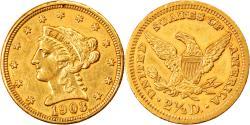 Us Coins - Coin, United States, Coronet Head, $2.50, Quarter Eagle, 1903, U.S. Mint