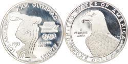 Us Coins - Coin, United States, Jeux olympiques - Lanceur de disques, Dollar, 1983, U.S.