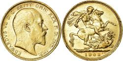 World Coins - Coin, Australia, Edward VII, Sovereign, 1902, Sydney, , Gold, KM:15
