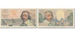 World Coins - France, 10 Nouveaux Francs on 1000 Francs, Richelieu, 1953, 1957-03-07