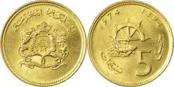 World Coins - Coin, Morocco, al-Hassan II, 5 Santimat, 1974, Paris,