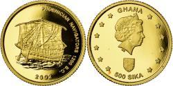 World Coins - Coin, Ghana, Phoenician Navigators, 500 Sika, 2002, Proof, , Gold