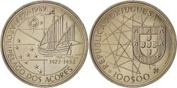 World Coins - Portugal, 100 Escudos, 1989, Copper-nickel, KM:648