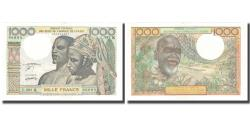 World Coins - Banknote, West African States, 1000 Francs, KM:603Hn, UNC(65-70)