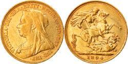 World Coins - Coin, Australia, Victoria, Sovereign, 1894, Sydney, , Gold, KM:13
