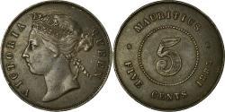 World Coins - Coin, Mauritius, 5 Cents, 1883, , Bronze, KM:9