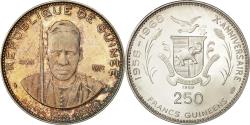World Coins - Coin, Guinea, 250 Francs, 1969, MS(63), Silver, KM 13