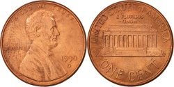 Us Coins - United States, Lincoln Cent, 1990, Denver, , KM:201b