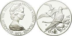 World Coins - Coin, BRITISH VIRGIN ISLANDS, Elizabeth II, Dollar, 1975, Franklin Mint, U.S.A.