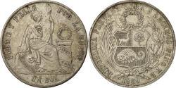 World Coins - Coin, Peru, Sol, 1869, Lima, AU(50-53), Silver, KM 196.3