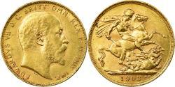 World Coins - Coin, Australia, Edward VII, Sovereign, 1903, Perth, , Gold, KM:15