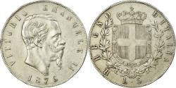 World Coins - Coin, Italy, Vittorio Emanuele II, 5 Lire, 1876, Rome, , Silver, KM:8.4