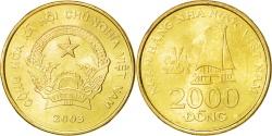 World Coins - Vietnam, SOCIALIST REPUBLIC, 2000 Dông, 2003, Vantaa, , KM:75