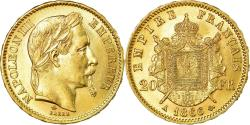 Ancient Coins - Coin, France, Napoleon III, 20 Francs, 1866, Paris, , Gold, KM:801.1
