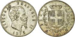 World Coins - Coin, Italy, Vittorio Emanuele II, 5 Lire, 1875, Milan, , Silver