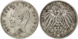 World Coins - German States, 2 Mark, 1896, Munich, KM #913, , Silver, 28, 10.98