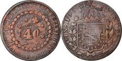 World Coins - Coin, Brazil, Pedro I, 40 Reis, 1825, Rio de Janeiro, , Copper