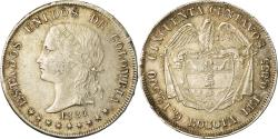 World Coins - Coin, Colombia, 50 Centavos, 1884, Bogota, , Silver, KM:177.1